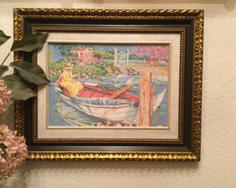 embroidered cross stitch picture