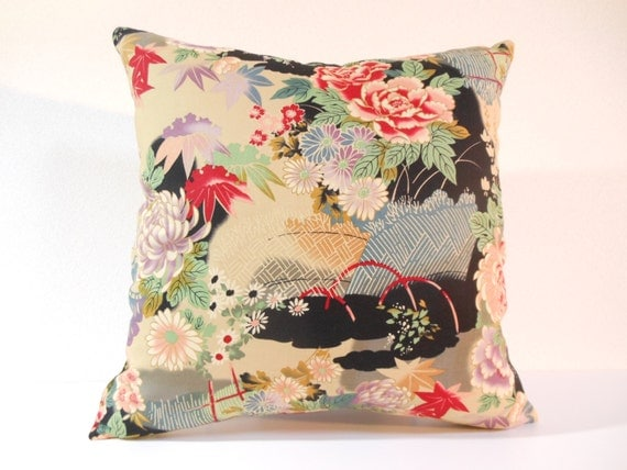 Open sale 25 off japanese fabric pillow 271 decorative - Fabric for throw pillows ...