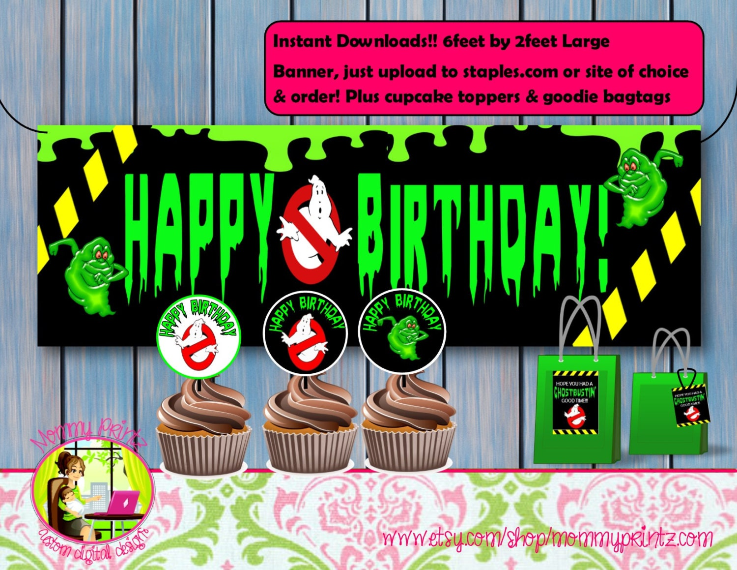 Ghostbusters Banner Ghostbusters Birthday Ghostbuster Goodie