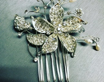 Bridal hair comb, wedding hair accessories