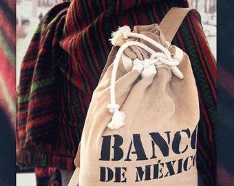 Canvas BANCO DE MEXICO Backpack