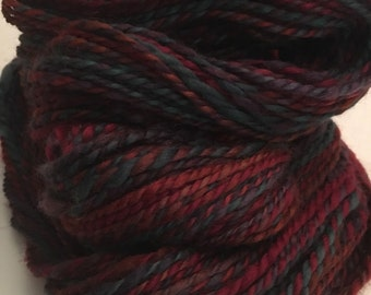 Handspun bfl wool yarn. Worsted weight. Weighs 3.6oz appx. 162 yards.