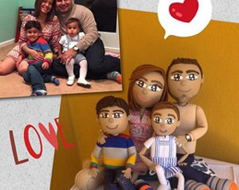 Family Holiday Gift Personalized Doll