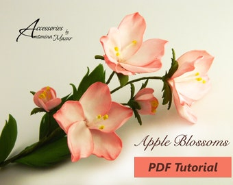 A sprig of Apple blossoms from foam PDF Tutorial
