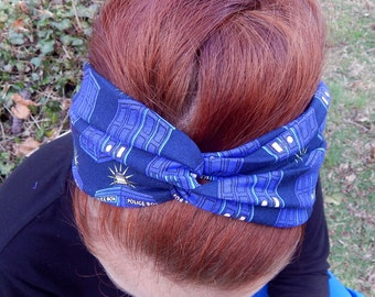 Doctor Who Tardis Turban Twist Headband