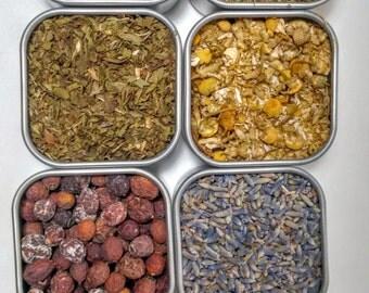 Relaxation Herbal Tea Set (sleep tea, stress relief loose tea)