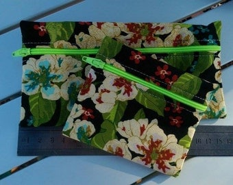 J021 - Set of two zippered pouches