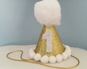 Mini Glitter Birthday Girl/Boy, Party Hat First Birthday, baby, Birthday, prop, cake smash, 1st birthday, baby birthday, handmade
