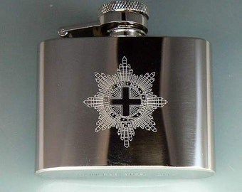 Coldstream Guards Stainless Steel Hip Flask