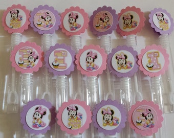 Minnie mouse mini bubble wands minnie birthday party favors for Mini bubble wands