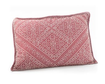 Moroccan Upholstered Cushion- Red