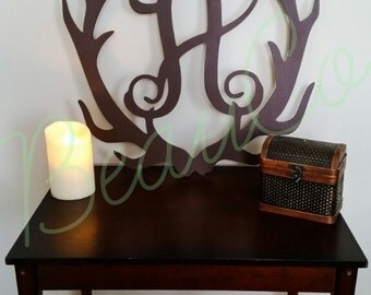 Wooden Antler Initial FREE SHIPPING!!