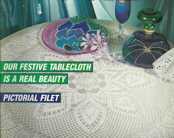 Decorative Crochet Magazine #26 Mar. 1992 Home Decor, Pictorial Filet, Doilies, Tablecloth etc.
