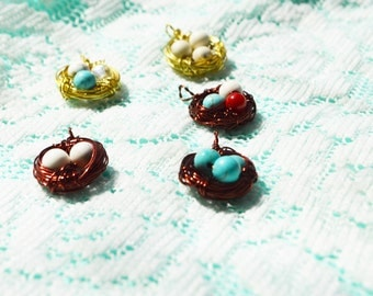 Handmade Mother Bird's Nest Necklace