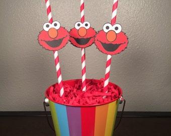 Sesame Street (Elmo) Straws: Set of 12
