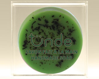 Green tea natural handmade soap