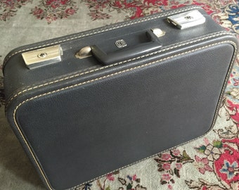 Vintage Luggage U.S. Trunk Company Overnight Suitcase
