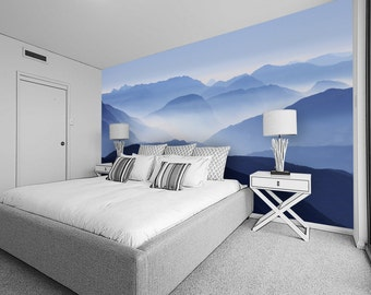 Custom Fabric Wall Mural   Misty Mountains   Self Adhesive, Removable U0026  Repositional Fabric Part 79