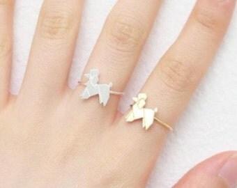 Ring dog origami