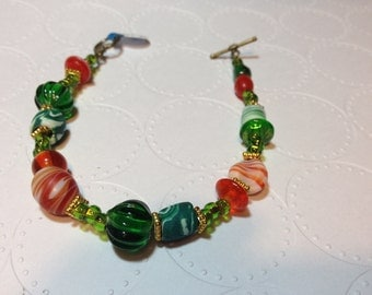 "ID# 121 BAUBBLES and CLAY 7.75"" bracelet"