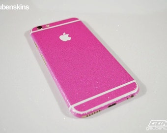 iphone 6 skin glitter pink with white