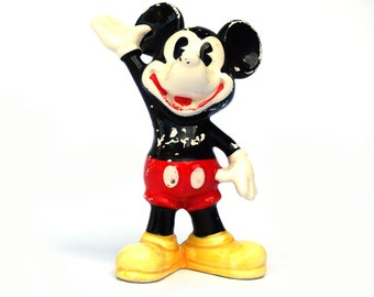 Vintage ceramic Mickey Mouse figurine Made in Japan