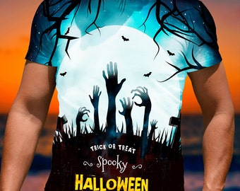 All Over Print T-shirt  printed Halloween T shirts Ref022