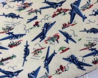 Michael-Miller-Fabric-By-The-Yard-Wild-Blue-Younder-Jet-Air-Planes-Cotton-Flannel-Quilting-Fat-Quarters-Sewing-DIY-Projects-Crafts-Supplies