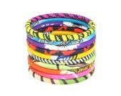 Lot de 10 bracelets en Wax