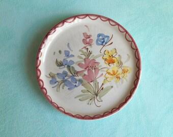 vintage pin dish or coaster 6 cm / Ulmer Keramik / W. Germany / 1959-1986