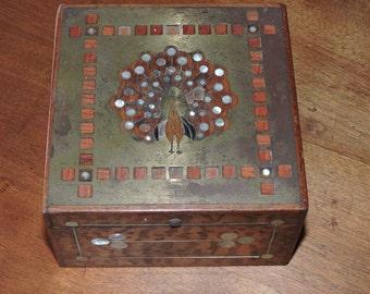 Inlaid Wood Hinged Box