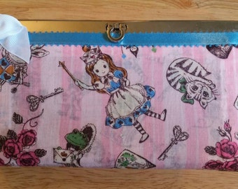 Whimsical alice in wonderland wallet