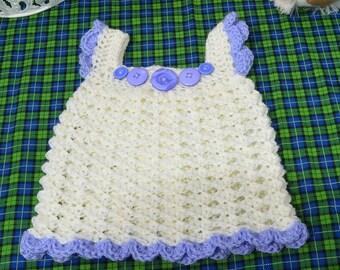 hand crocheted sundress, 3-6 months