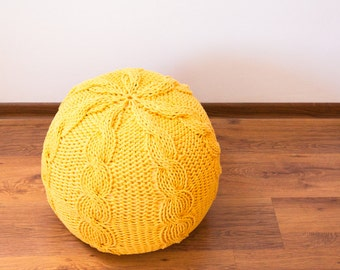 Knitted pouf / ottoman BRAID 42 colors