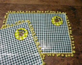Placemat with dried corn flour.