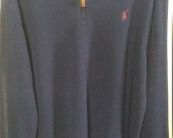 Ralph Lauren Qrt Zip Sweater Large