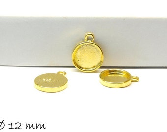 10 PCs pendant/Locket version 12mm gold