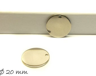 4 PCs pendant stainless steel stamp plate silver
