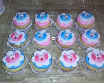 Owl  cupcake toppers 1 dozen