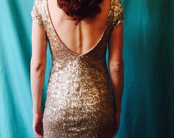 Second hand vintage sequin Mini dress size 6