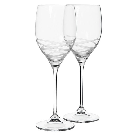 Vera wang by wedgwood 39 blanc sur blanc 39 crystal wine - Wedgwood crystal wine glasses ...