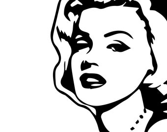 Marilyn Monroe Silhouette, Marilyn Monroe eps files, Actress, Movies, Music, instant download, SVG file, cutting files