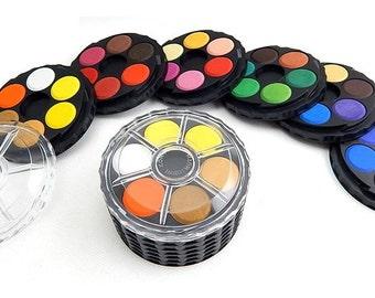 Koh I Noor watercolour set 36 water color roud stackable paint