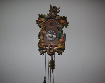 multi-color cuckoo clock