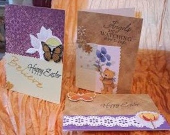 A set of three Easter cards