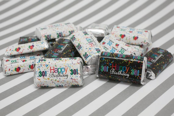 Happy 30th birthday party favor sticker decorations by for 30th birthday decoration packages