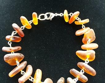 Sea glass Bracelet..Brown