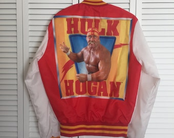 Vintage WWF Hulk Hogan Jacket - Rare Hulkster Wrestling Coat In Excellent Condition - Old School - WWE - Iron Sheik - Andre The Giant - 90s