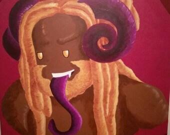Golden Ram, Aries Painting