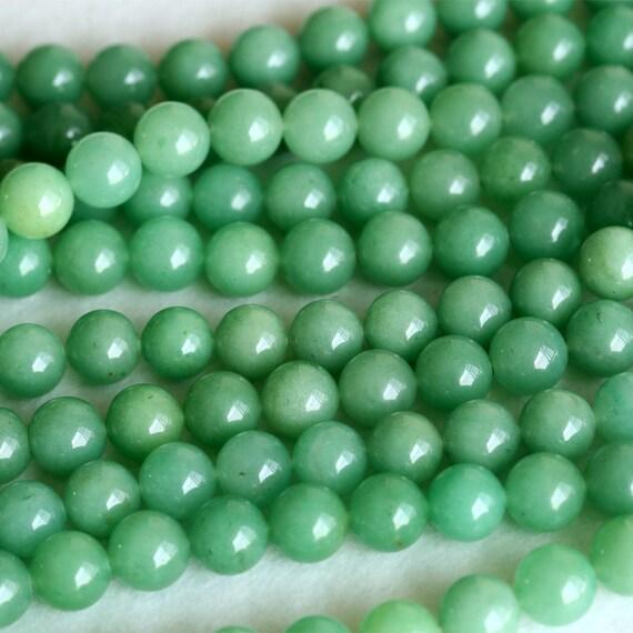 Genuine Jade Beads: High Quality AAA Natural Genuine Imperial Green Aventurine